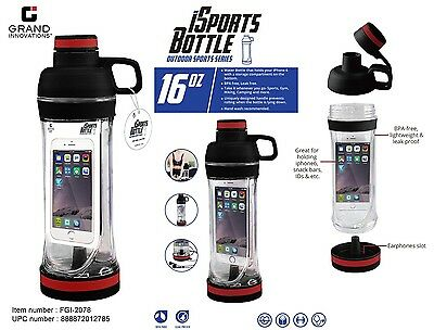 Fitness Gym Water Bottle Unbreakable BPA Free Leak-proof Outdoor iSports Travel