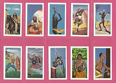 Nations  -  Reddings Tea  -  Set Of 48 Warriors Of The World Cards  -  1962
