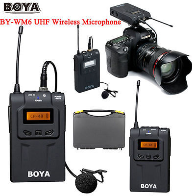 BOYA BY-WM6 UHF Wireless Microphone System for ENG EFP Cameras & Camcorders USA