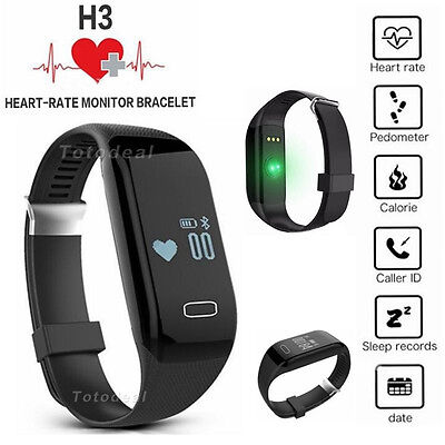 Smart Wrist Watch Bracelet Heart Rate Monitor Tracker for IOS Android