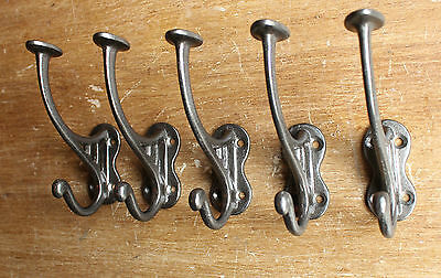 5 x VICTORIAN VINTAGE STYLE CAST IRON HAT & COAT HOOKS ANTIQUE DOOR WALL ~ CH10