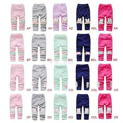 New Cartoon Kids Girls Baby Tight Pants Toddler Stretch Warm Leggings Trousers