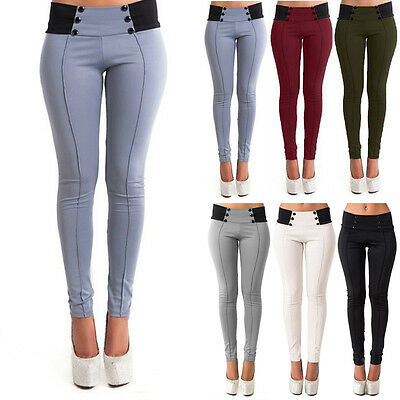 Fashion Women Casual Stretch Skinny Leggings Pencil Pants Slim Trousers New