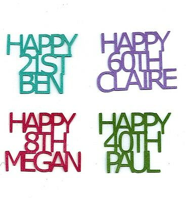 Personalised Table Birthday Confetti Happy Age Name Party Celebration Decoration