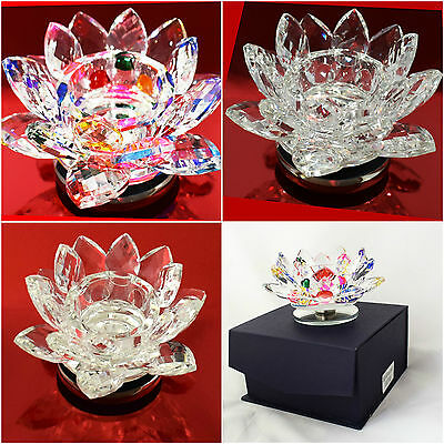 Tea Light Canclestick Candle Holder Stand Gift Pack Crystal Clear Color Glass