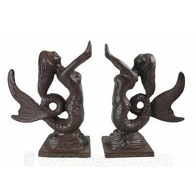 Decorative Metal Mermaid Book Ends or Door Stops - Great Gift - 1st Class Post!