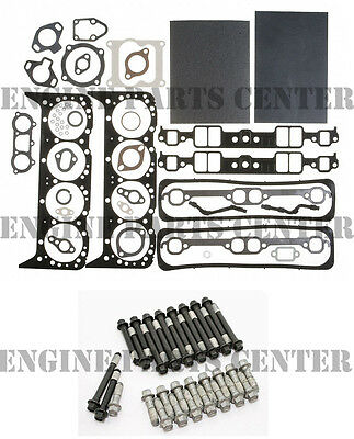 MAHLE Head Gasket Set+BOLTS for MERCRUISER CHEVY MARINE 350 5.7 w/center bolt