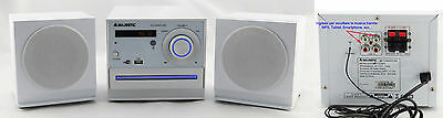 HI-FI CD/MP3 con USB, 2 RCA e RADIO FM -MAJESTIC AH2346 AUDIOLA AHB2297 -BIANCO