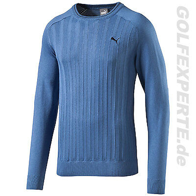 Puma Golf Herren Sweater Lux Crew Neck Thermo Cool Pullover Federal Blue