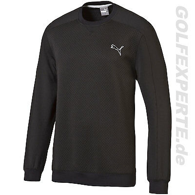 Puma Golf Herren Pwrwarm Crew Top Layer / Sweater Black Perfekt Für Kalte Tage