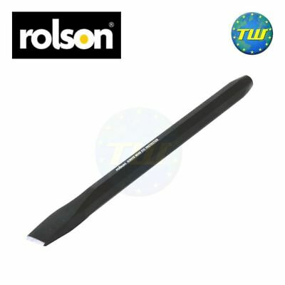 "Rolson 10"" Cold Chisel Hand Tool One Piece Forged Steel Cutting Shaping Metal"