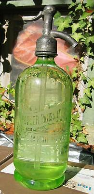 French Yellow/green Seltzer Bottle Of 100 Years Old