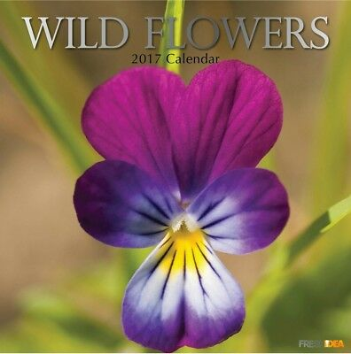 Wild Flowers - 2017 Wall Calendar 16 Months by The Gifted Stationery (O)