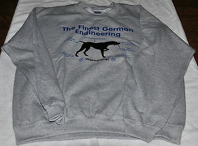 Weimaraner German Engineering Sweatshirt L Large Benefits Weim Rescue Unique