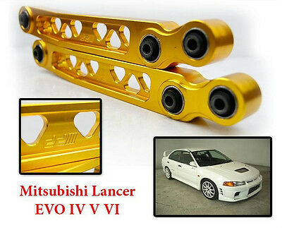 2pcs DD Rear Lower Control Arm Gold MITSUBISHI LANCER EVO 4 5 6 CN9A CP9A 4G63