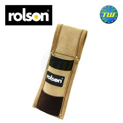 Rolson Heavy Duty Leather Scaffold Spirit Level Single Tool Pouch Holster 68579