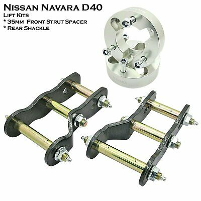 "2pcs 2"" Lift Kit Shackles + 2pcs 3"" 35mm strut Spacers Fits Navara D40 05-15"