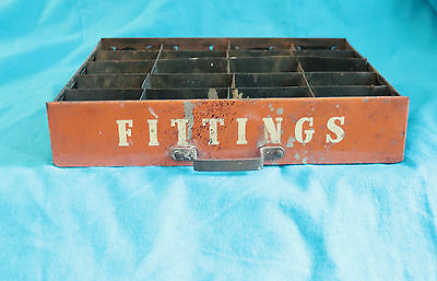 "Vintage ""fittings"" Metal Drawer - 20 Sections - Used"