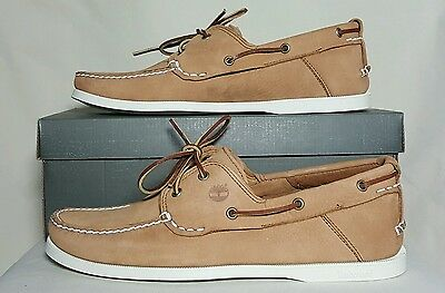 Timberland Earthkeepers Heritage 2 Eye Boat Shoes Light Brown Tb063007A Nib
