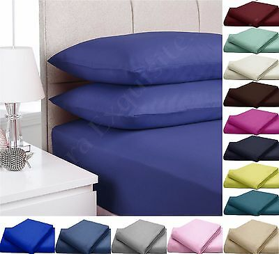 100% Egyptian Cotton 200 / 500 / 800 Thread Count Extra Deep Fitted Sheets