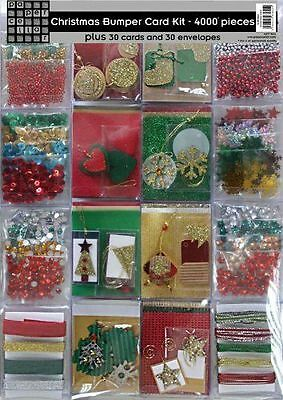 NEW Bumper Christmas Card Making Kit - 4000 Pieces
