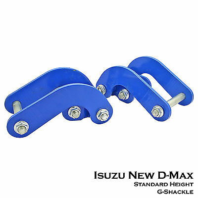 2pcs Rear G-Shackles Suspension STD Height for Isuzu NEW D-Max 12+ Holden Rodeo