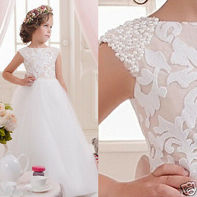 2017 Flower Girl Dress Girl Communion Party Prom Princess Pageant  Wedding
