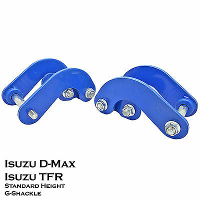 2pcs Rear G-Shackles Suspension STD Height for Isuzu D-Max 07-11 Holden Rodeo