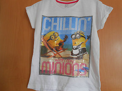 """Girls Despicable Me """"Chillin with My Minions"""" T Shirt, BNWT,So Cute!Sequins!"""
