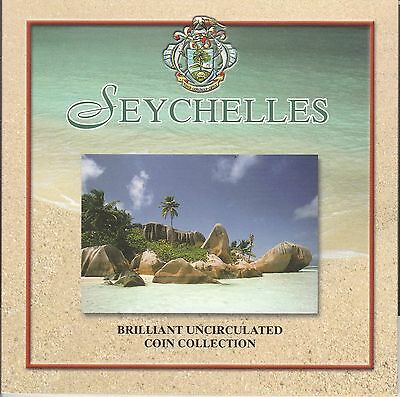 Seychelles - Set of 6 UNC coins in a booklet