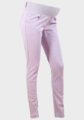 BNWT under / on Bump Maternity Jeans Lilac Size 10 - 16