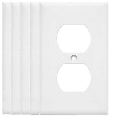 2pcs Oversized Unbreakable Duplex Outlet Wall Plate Single Cover White Faceplate