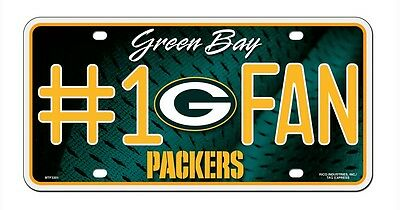 Green Bay Packers #1 Fan License Plate [NEW] NFL Tag Auto Truck Metal CDG