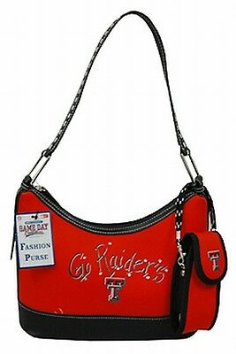 Texas Tech Red Raiders Boutique Handbag Ladies Saddle Purse Bag Ncaa New
