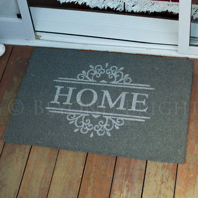 Fab Door Mat 60x90 HOME Coir PVC Backed Doormat Outdoor Rugs Heavy Duty