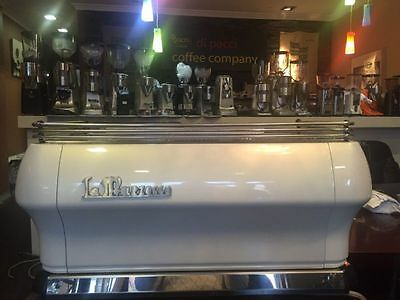 Used 3 Group La Marzocco FB80 In Pearl White Commercial Coffee Machine
