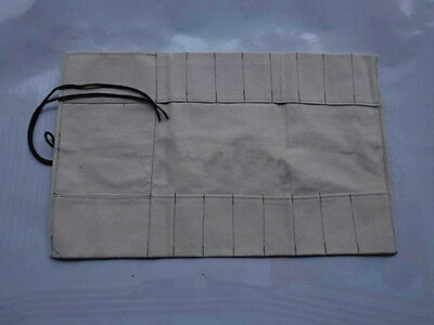 8 Pocket Japanese Canvas Chef's Knife Bag Carry Case Knife Roll Bag Chef Wallet
