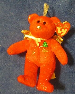 """Ty Jingle Beanies Gift of Peace Red Ornament  2005 5-1/2"""""""