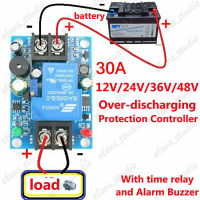 12V 24V 36V 48V 30A Battery anti-over discharge control protection Relay Board