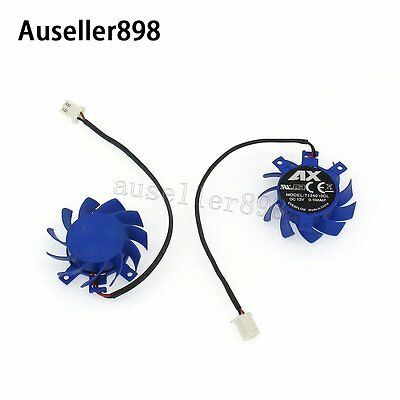 For ATI T124010DL Rotary DC Brushless Video Card Fan DC12V 0.10A Substitute