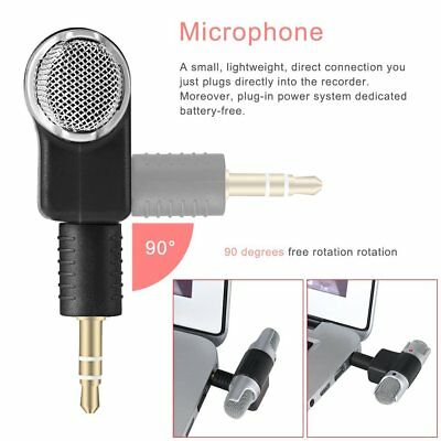 1pc New Mini Stereo Microphone Mic 3.5mm Mini Jack PC Laptop Notebook HR