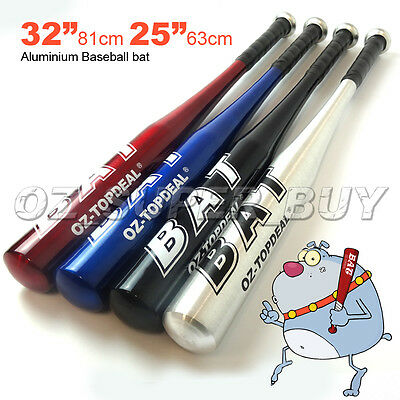 "32""81cm/25""63cm Aluminium Baseball Bat Racket Softball Outdoor Sports Brand New"