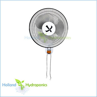 "16"" Oscillating Wall Fan 400mm Room Ventilation Hydroponics Air Cooling"