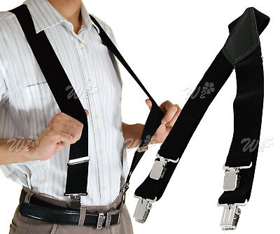 50mm Unisex Adjustable Mens Women Braces Durable Wide & Heavy Duty Suspenders