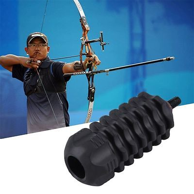 Compound Bow Stabilizer Rubber Archery Accessory For Archery Hunting Black