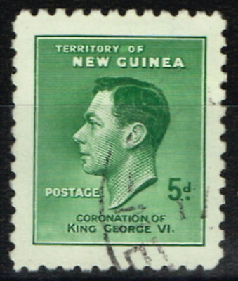 New Guinea 1937 5d Green Re-Entry SG210a Superb Used