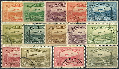 New Guinea 1939 Air set of 14 SG212-225 Superb Used Choice Examples