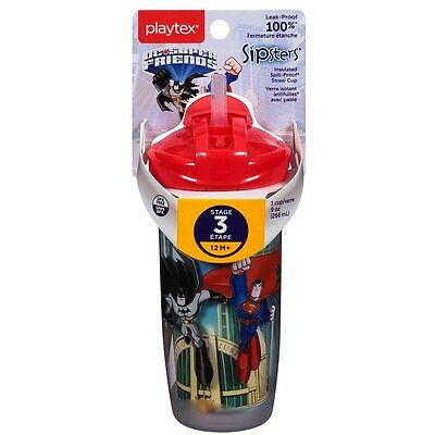 Playtex PlayTime Straw, Super Friends 1 ea