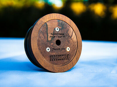 PanzerWood Record Weight Puck Clamp Plattengewicht 380g für Plattenspieler TOP !