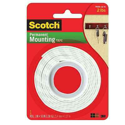 Scotch Indoor Mounting Tape, Heavy Duty 1'' x 50'' 1 ea (Pack of 2)